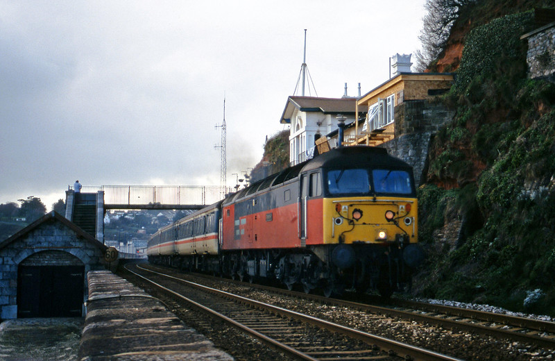 47769, 11.50 Plymouth-Liverpool Lime Street, Dawlish, 8-2-00.
