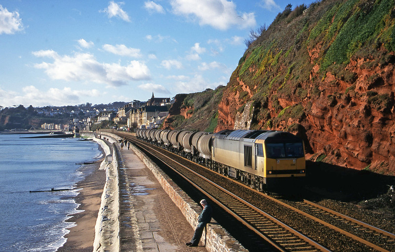 60095, 09.40 Burngullow-Newport Alexandra Dock Junction Yard, Dawlish, 2-2-00.