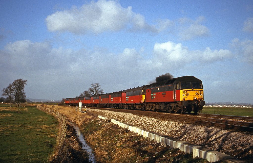 47734, 12.15 Bristol Temple Meads-Plymouth, Powderham, near Exeter, 8-2-00.
