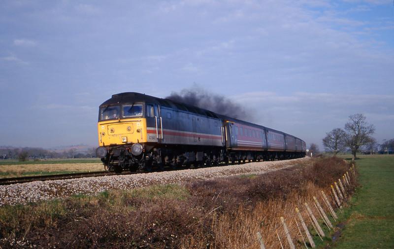 47843, 06.36 Wolverhampton-Plymouth, Powderham, near Exeter, 22-2-00.