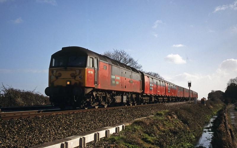 47726, 12.44 Plymouth-Glasgow, Powderham, near Exeter, 8-2-00.