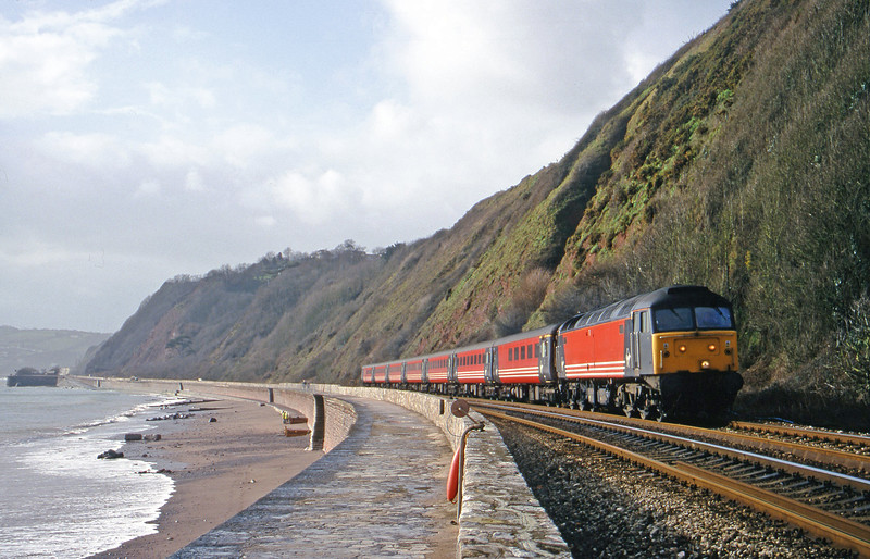 47818, 08.48 Penzance-Manchester Piccadilly, Holcombe, teignmouth, 8-2-00.