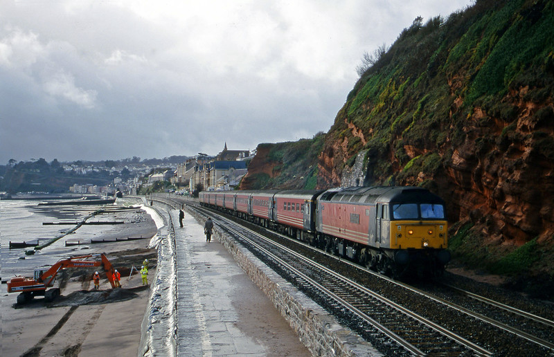47817, 11.50 Plymouth-Liverpool Lime Street, Dawlish, 7-2-00 (late).
