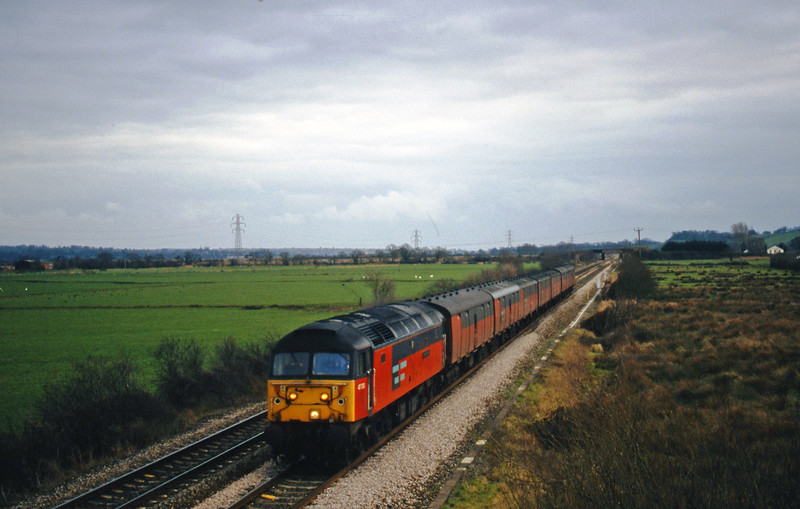 47733, 12.44 Plymouth-Glasgow, Exminster, near Exeter, 12-1-00.