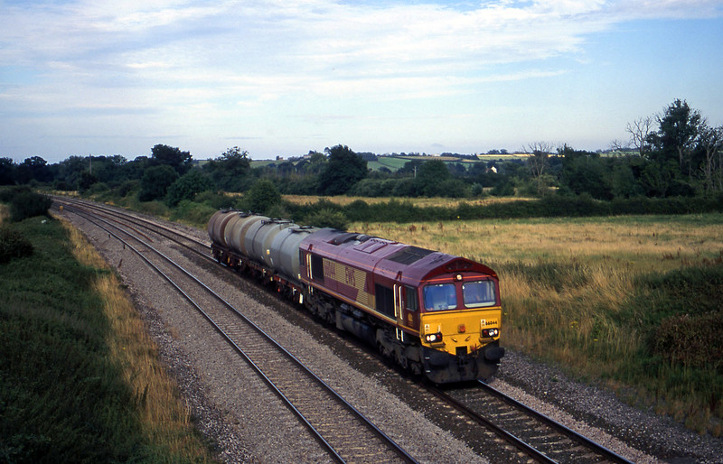 66044, 17.03 Westbury Yard-Plymouth Tavistock Junction Yard, Creech St Miachael, near Taunton, 31-7-00.