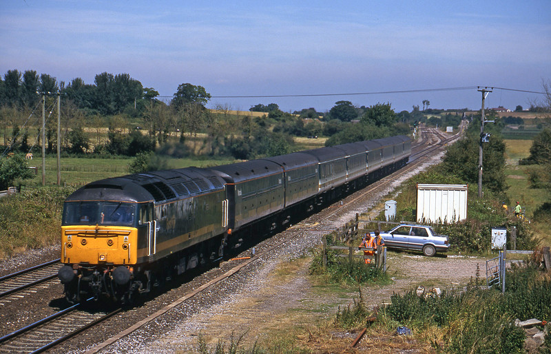 47846, 12.03 London Paddington-Penzance, Cogload, 18-7-00.