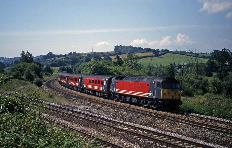 47845, 08.48 Penzance-Manchester Piccadilly, Aller Divergence, Newton Abbot, 19-7-00.