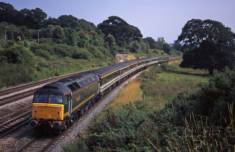 47813, 12.52 Penzance-London Paddington, Aller Divergence, Newton Abbot, 25-7-00.