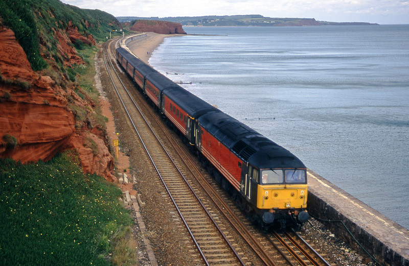 47814, 08.40 Glasgow-Penzance, Dawlish, 10-7-00.