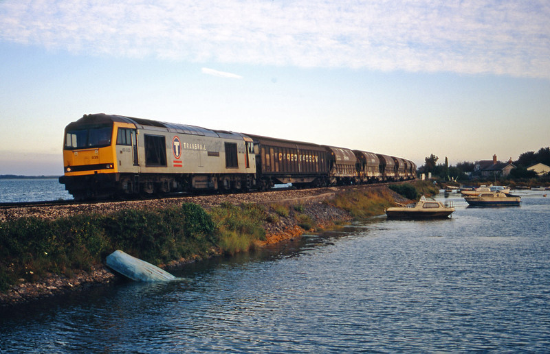 60035, 16.55 St Blazey-Cliffe Vale, Cockwood Harbour, near Starcross, 31-7-00.