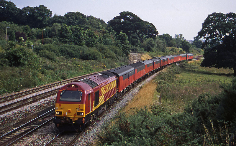 67006, 15.09 Plymouth-Low Fell, Aller Divergence, Newton Abbot, 25-7-00.