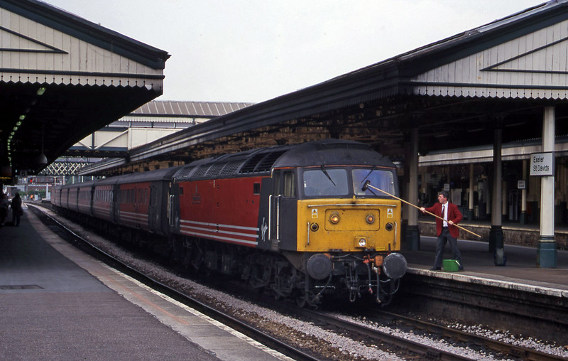 47845, 08.40 Glasgow-Plymouth, Exeter St David's, 6-7-00.