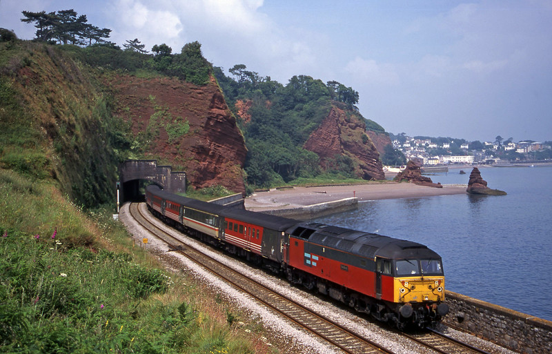 47741, 09.13 Liverpool Lime Street-Plymouth, Horse Cove, Dawlish, 6-7-00.