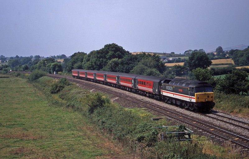 47831, 11.50 Plymouth-Liverpool Lime Street (late), Silverton, near Exeter, 26-7-00.