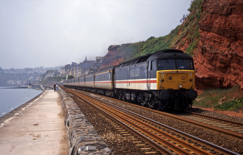 47805, 11.50 Plymouth-Liverpool Lime Street, Dawlish, 6-7-00.