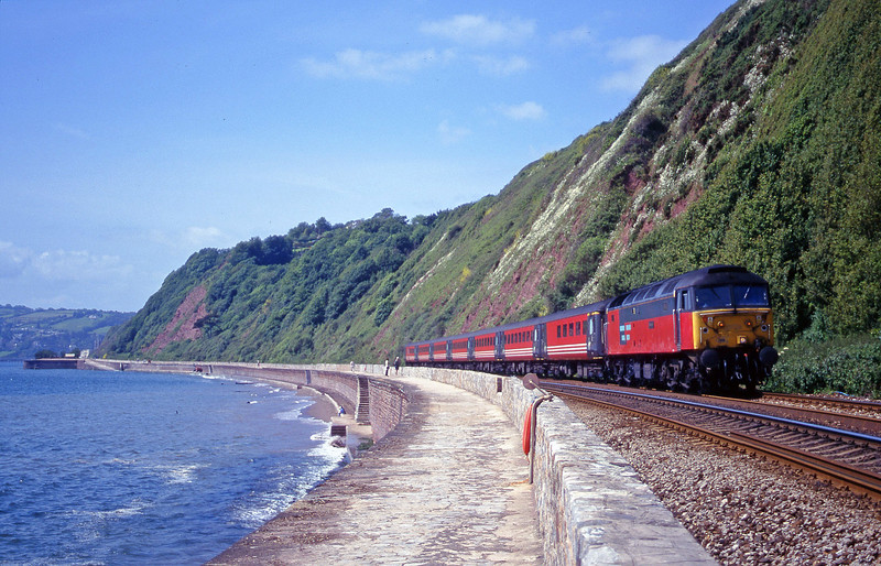 47769, 08.48 Penzance-Manchester Piccadilly, Holcombe, Teignmouth, 7-6-00.