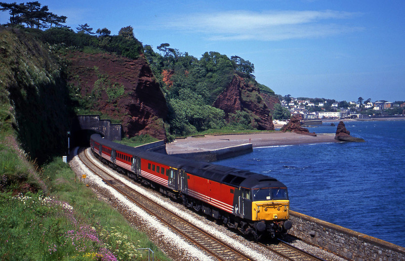 47827, 09.13 Liverpool Lime Street-Plymouth, Horse Cove, Dawlish, 7-6-00.