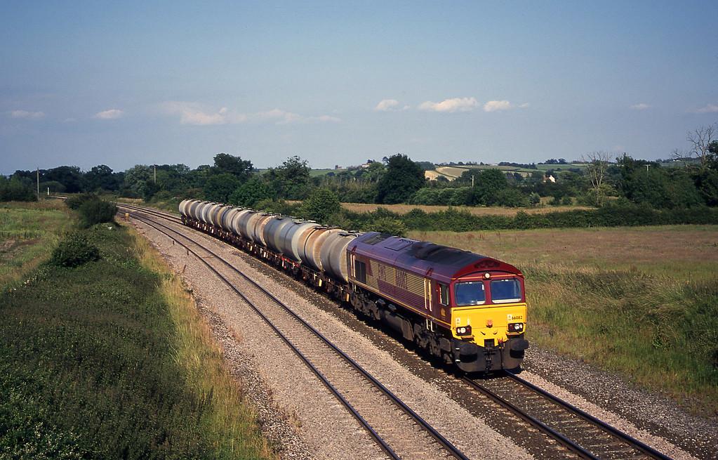66082, 17.03 Westbury Yard-Plymouth Tavistock Junction Yard, Creech St Michael, near Taunton, 26-6-00.