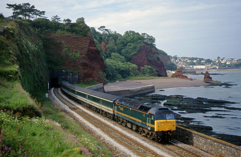 47832, 14.03 London Paddington-Plymouth, Horse Cove, Dawlish, 7-6-00.