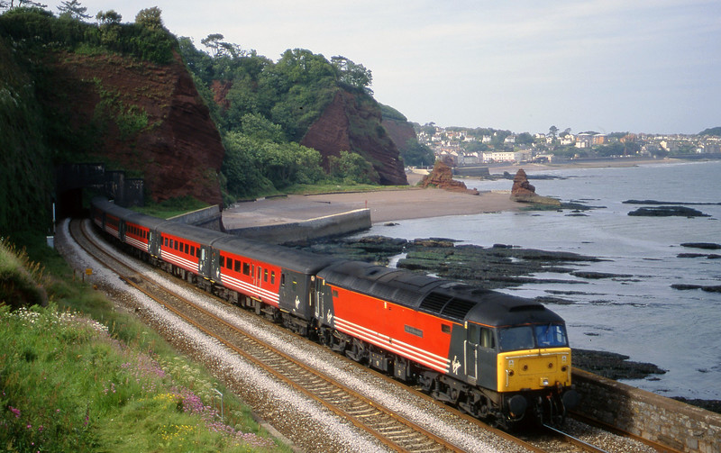 47822, 08.40 Glasgow-Penzance, Horse Cove, Dawlish, 7-6-00.