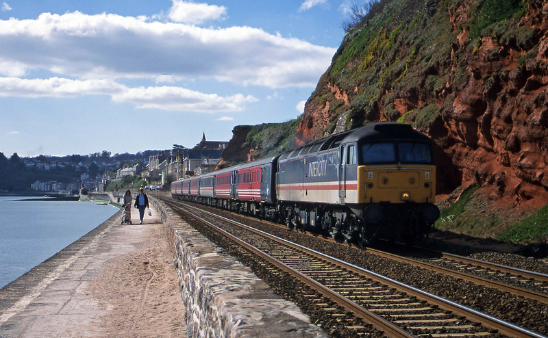 47828, 11.50 Plymouth-Liverpool Lime Street, Dawlish, 15-3-00.