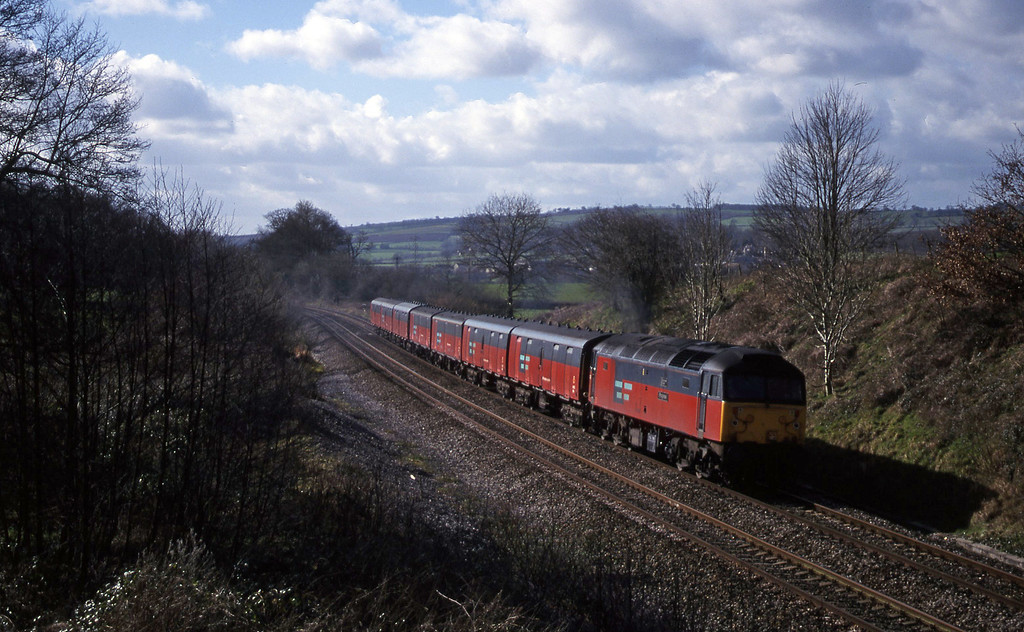 47726, 12.44 Plymouth-Glasgow, Whiteball, 1-3-00.