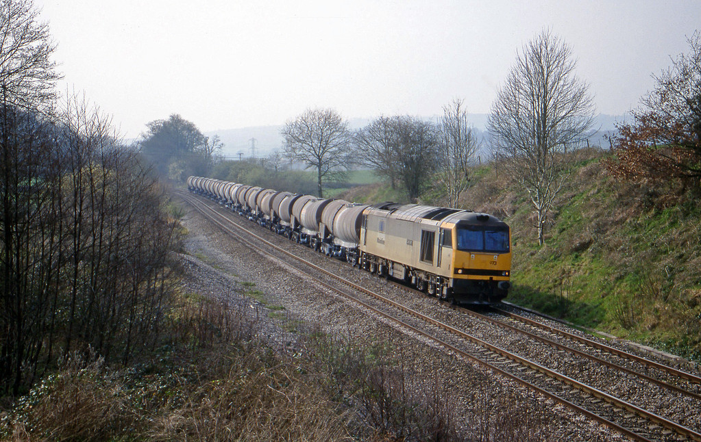 60073, 09.40 Burngullow-Newport Alexandra Dock Junction, Whiteball, 22-3-00.