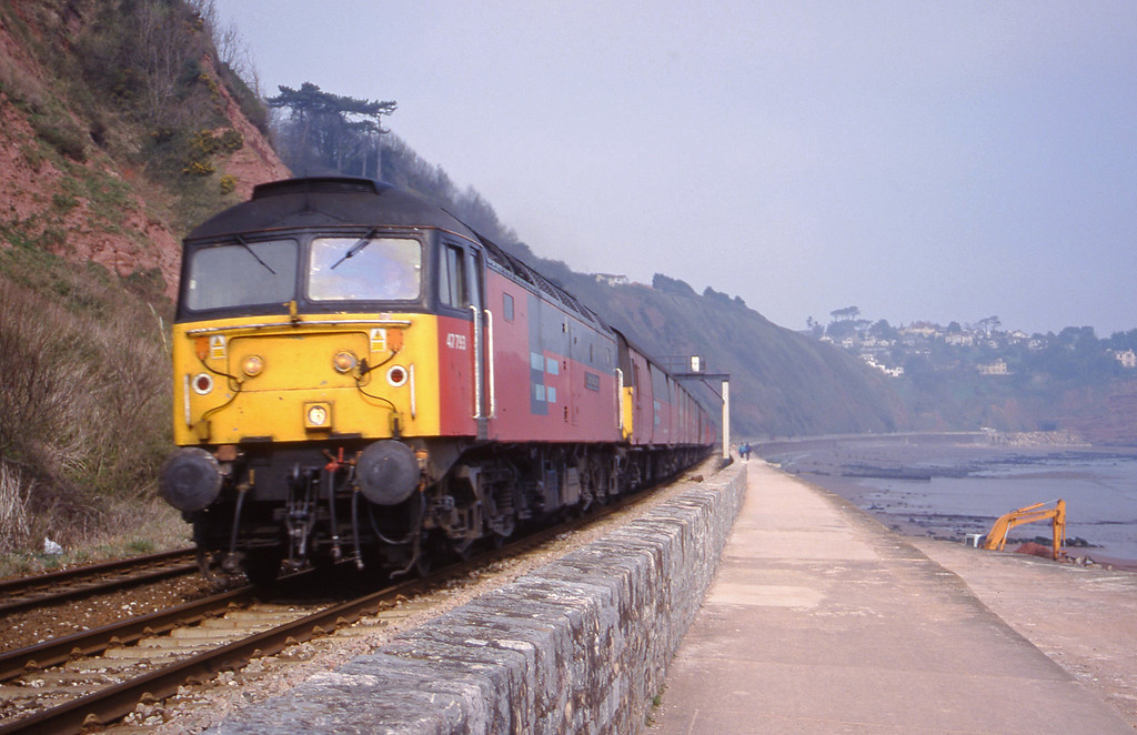 47793, 12.15 Bristol Temple Meads-Plymouth, Teignmouth, 21-3-00.