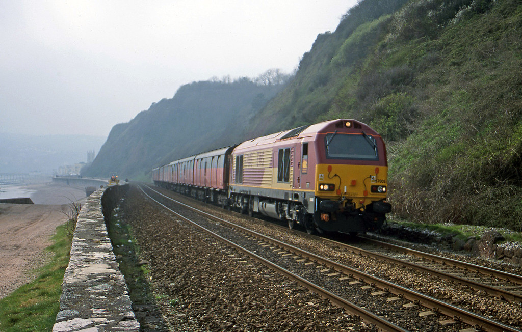 67005, up test, Teignmouth, 21-3-00.