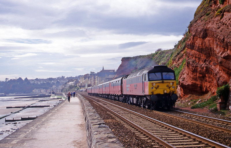 47734, 12.44 Plymouth-Glasgow, Dawlish, 7-3-00.