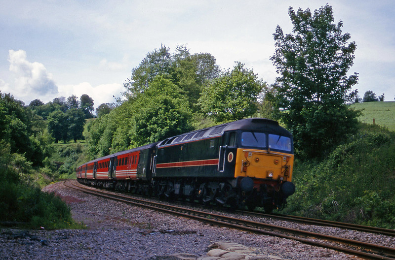 47709, 08.48 Penzance-Manchester Piccadilly, Marlands, near Wellington, 29-5-00.