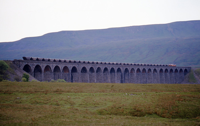 66056, down mgr empties, Ribblehead Viaduct, 31-5-00.