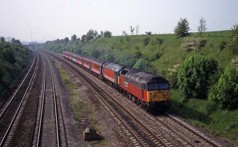 47741/47848, 09.10 Edinburgh-Bournemouth, South Moreton, near Didcot, 9-5-00.