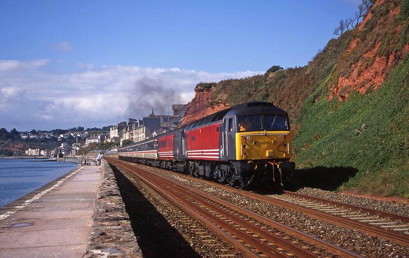 47747, 10.02 Paignton-Newcastle, Dawlish, 2-9-00.