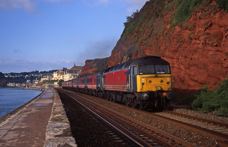 47814, 08.15 Paignton-Newcastle, Dawlish, 2-9-00.