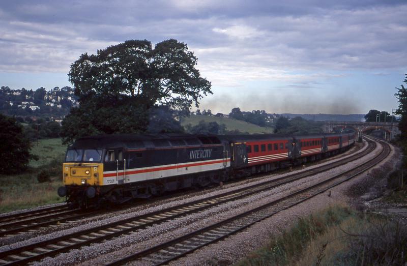 47826, 06.05 Derby-Plymouth, Aller Divergence, near Newton Abbot, 19-9-00.