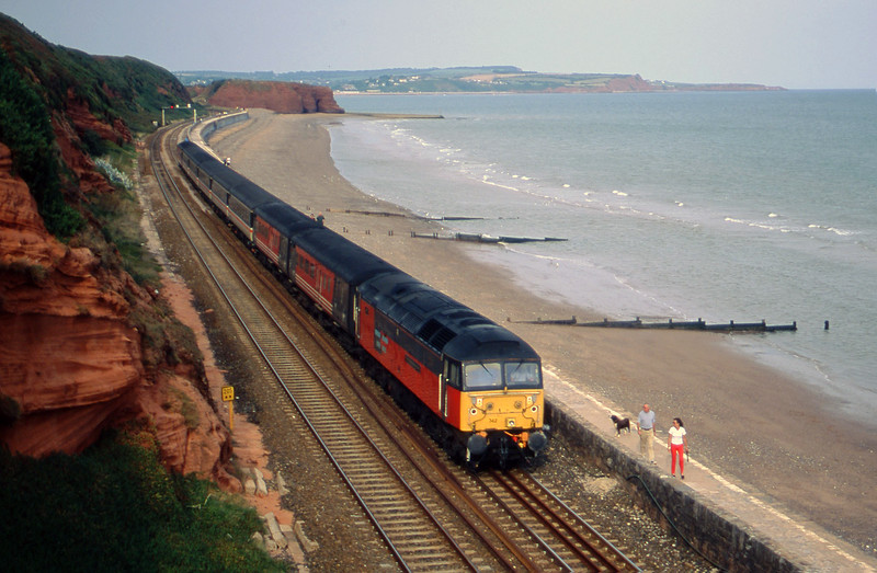 47742, 08.40 Glasgow-Penzance, Dawlish, 4-9-00.