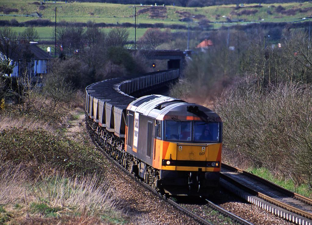 60007, Avonmouth Bulk Handling Terminal-Didcot Power Station, Brentry, Bristol, 3-4-01.