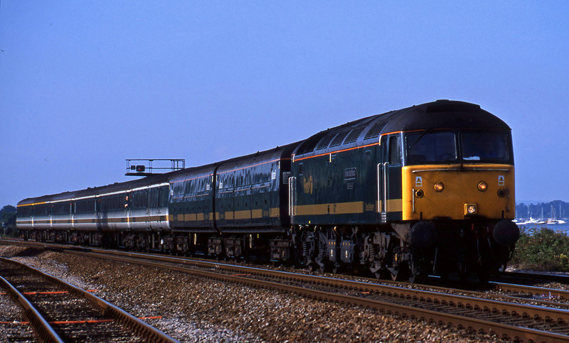 47816, 14.33 London Paddington-Plymouth, Dawlish Warren, 1-8-01.