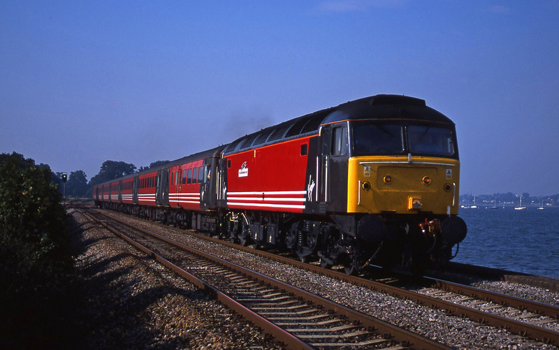 47810, 08.40 Glasgow-Penzance, Powderham, near Exeter, 29-8-01.
