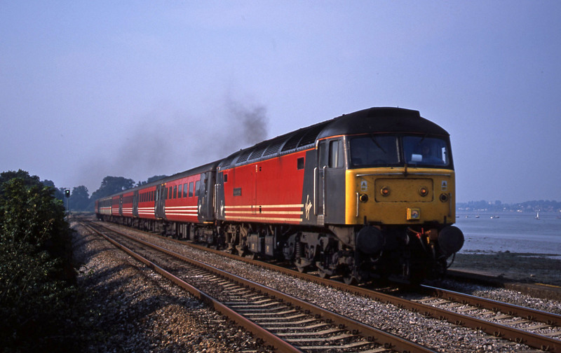 47807, 08.40 Glasgow-Penzance, Powderham, near Exeter, 25-8-01.