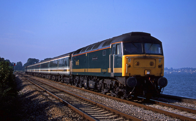 47815, 14.33 London Paddington-Plymouth, Powderham, near Starcross, 29-8-01.