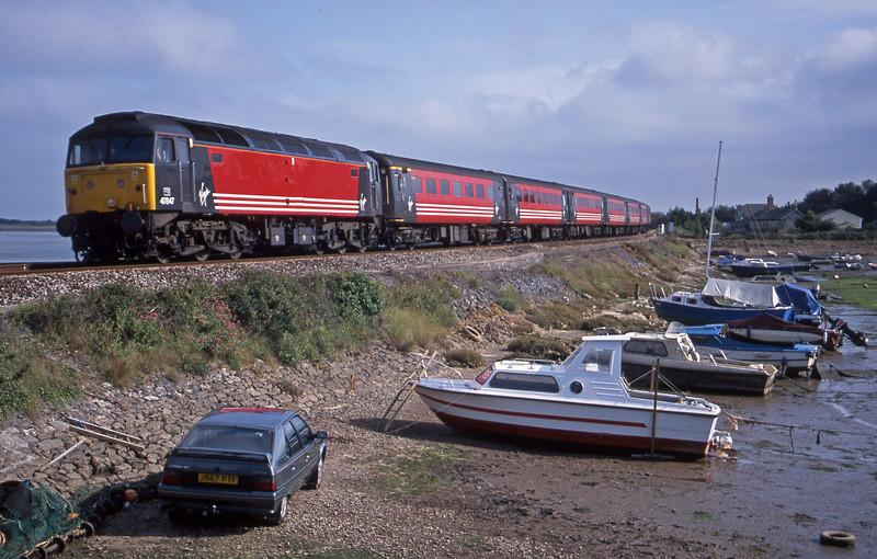 47847, 15.50 Plymouth-Leeds. Cockwood Harbour, near Starcross, 13-8-01.