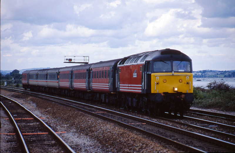 47810, 08.40 Glasgow-Penzance, Dawlish Warren, 3-8-01.