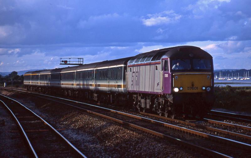 57601, 19.23 Exeter St David's-Plymouth Laira, Dawlish Warren, 8-8-01.