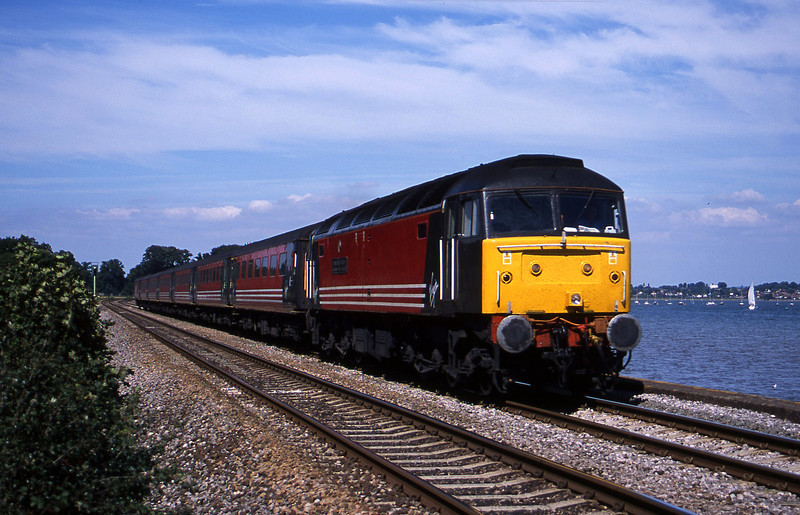 47828, 09.13 Liverpool Lime Street-Plymouth, Powderham, near Exeter, 28-8-01.