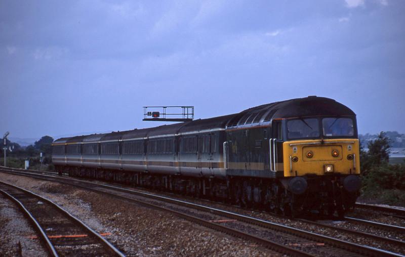 47813, 14.33 London Paddington-Plymouth, Dawlish Warren, 6-8-01.