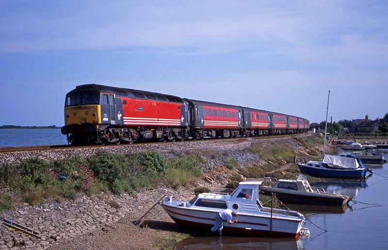 47818, 15.50 Plymouth-Leeds, Cockwood Harbour, near Starcross, 1-8-01.