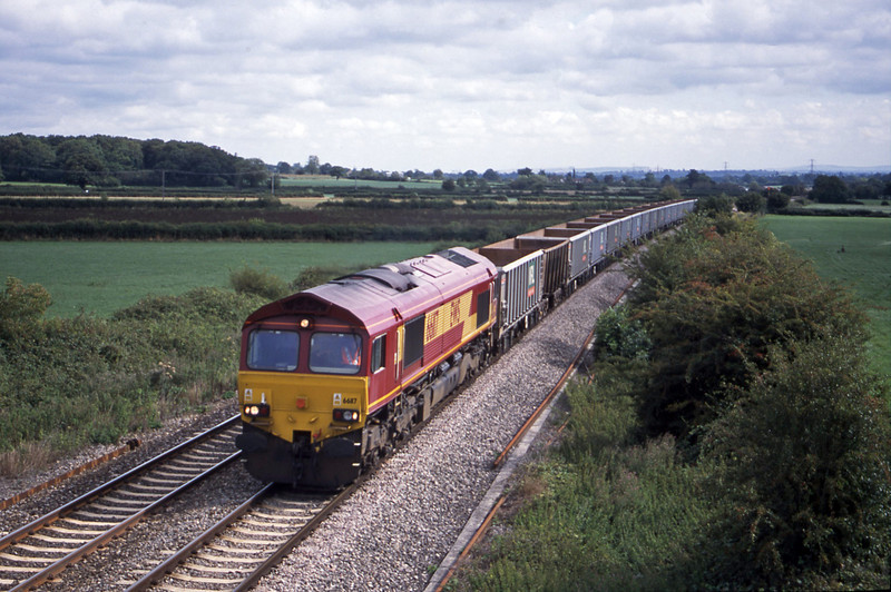 66117, down stone empties, Berkley Marsh, near Frome, 21-8-01.