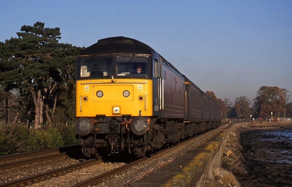 47839, 06.05 Derby-Plymouth, Powderham, near Exeter, 12-12-01.